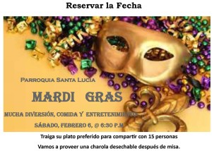 Mardi gras Save the date